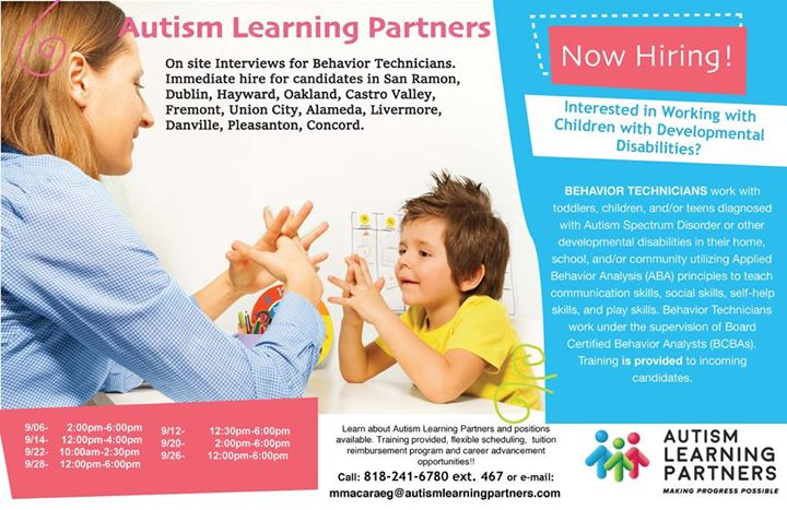 Onsite Interview Immediate Hires For Behavior Technicians Autism Learning Partners
